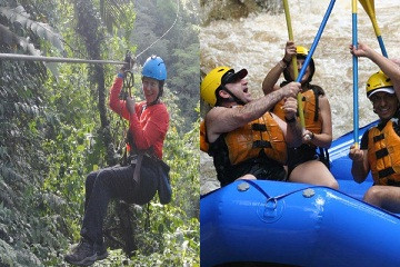 Canopy and Rafting in Arenal