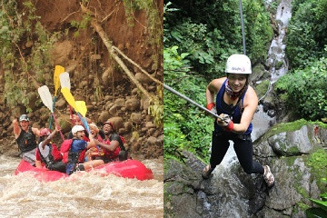 Canyoning with Rafting in Arenal