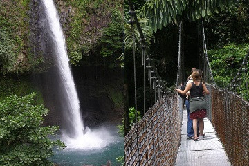 Hanging Bridges & La Fortuna Waterfall