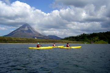 Kayak on Arenal Lake