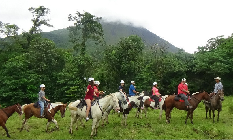Tubing and Horseback Riding to Arenal Volcano
